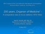 Schmidt, Josef : 200 Years Organon Of Medicine Presentation