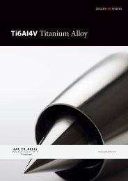 Ti6Al4V Titanium Alloy - Arcam AB
