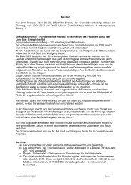 20. Protokoll vom 13.03.2012 - Hittisau