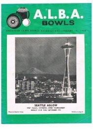 SEATTLE AGLOW - United States Lawn Bowls Association