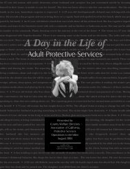 A Day in the Life of Adult Protective Services - Final Report ... - CWDA