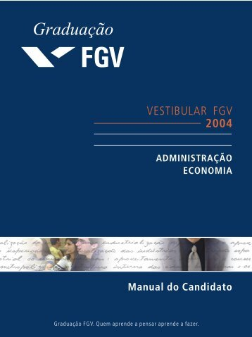 Manual do Candidato da FGV - Vestibular1