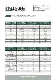 High alluminium zinc alloys - ItalLeghe