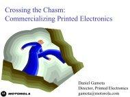 Crossing the Chasm: Commercializing Printed ... - Nano Mahidol