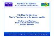 City Maut für München Für die Trendwende in der ... - its munich