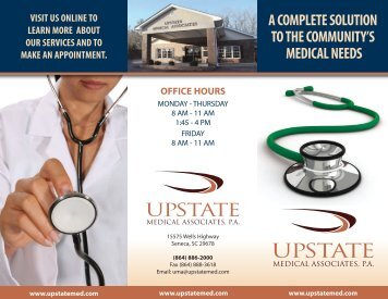 To Download Our Brochure. - Upstate Medical Associates