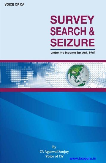Download eBook on Survey, Search & Seizure under ... - TaxGuru