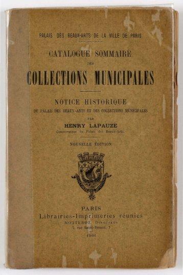 Consulter le document en pdf - Le Petit Palais - Ville de Paris