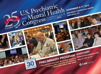 preliminary program - US Psychiatric and Mental Health Congress