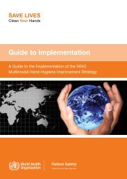 Guide to Implementation - libdoc.who.int - World Health Organization