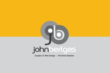 Graphic & Web Design | Portfolio Booklet - John Bertges On Target ...