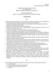 Regulamin pomocy materialnej - Wyższa Szkoła Ekologii i ...
