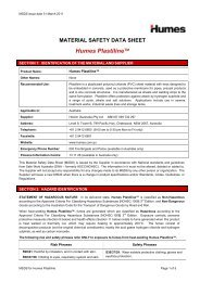 Plastiline® MSDS - Humes