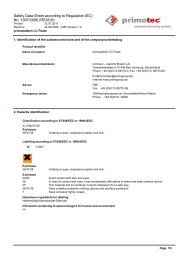 Safety Data Sheet according to Regulation (EC) No. 1907 ... - primotec