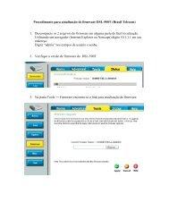 Procedimento para atualização de firmware DSL-500T (Brasil ... - GVT