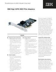 IBM High IOPS SSD PCIe Adapters