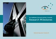 Research Milestones - The Ophthalmic Research Institute of Australia