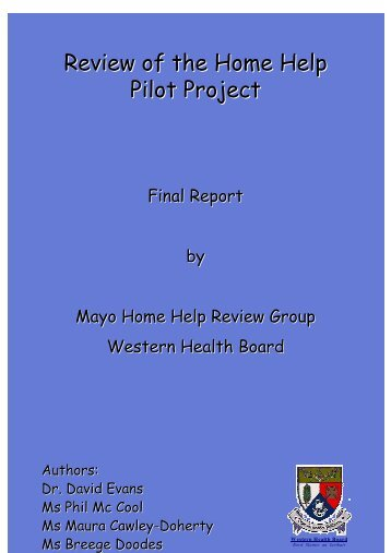 REVIEW OF THE HOME HELP PILOT PROJECT Final Report By ...