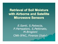 Retrieval of Soil Moisture with Airborne and Satellite ... - SMAP - NASA