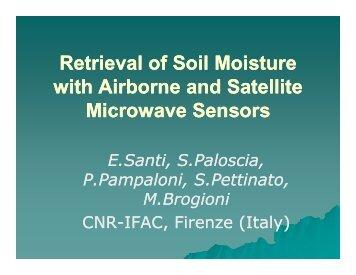 Retrieval of Soil Moisture with Airborne and Satellite ... - SMAP - NASA