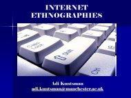 Critical Internet Studies seminar series 2008-08 - Methods ...