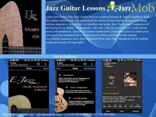 Jazz Guitar Lessons : E-Jazz - RunMob