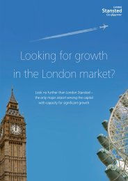 Looking for growth in the London market? - Stansted Airport