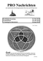 Pro-Nachrichten 26. Mai und 2. Juni 2013 - Herz Jesu Fechenheim