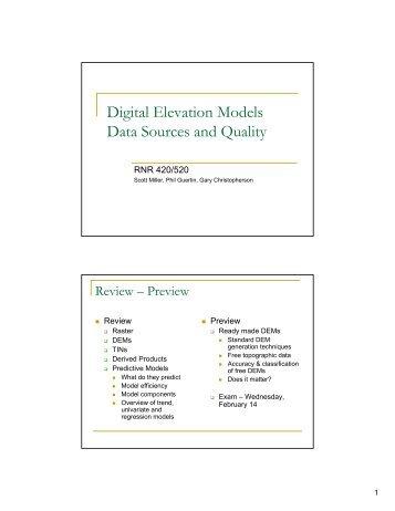 WorldView Elevation Suite DigitalGlobe - Dem data sources