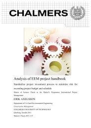 Analysis of EEM project handbook - Chalmers tekniska högskola