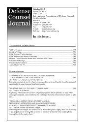 Defense Counsel Journal - International Association of Defense ...