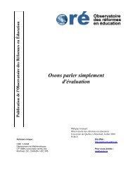 Osons parler simplement d'évaluation - UQAM