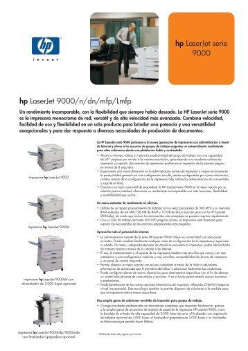 hp LaserJet serie 9000 hp LaserJet 9000/n/dn/mfp/Lmfp