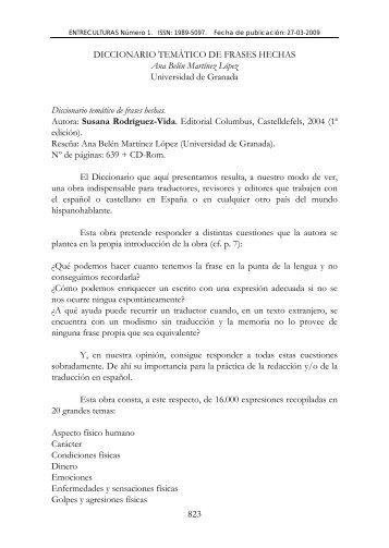 DICCIONARIO TEMÁTICO DE FRASES HECHAS ... - EntreCulturas