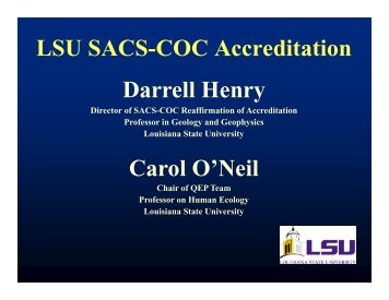 SACS-COC - Louisiana State University