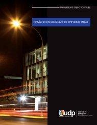 Folleto 2013 - Postgrados • Facultad de Economía y Empresa UDP