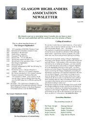 Newsletter No1 - August 2007 - The Royal Highland Fusiliers