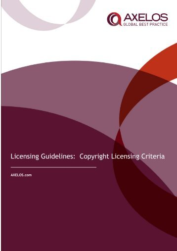 Copyright only Licensing Criteria - Best Management Practice