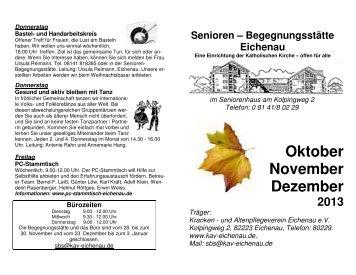 Oktober November Dezember - Krankenpflege Verein/Senioren ...