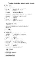 Promovendi expertisetechnieken 2008-2009 - Universiteit Gent