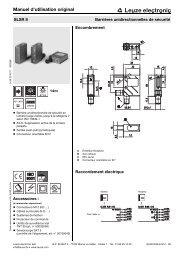Manuel d'utilisation original - Leuze electronic