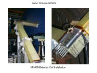 NuMI Pictures 9/23/04 MINOS Detector Coil Installation