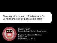 New algorithms and infrastructure for variant analysis at population ...