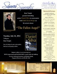 """The Fallen Angel"" - Sinai Temple"
