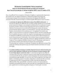 Déclaration Canada-Québec-Union européenne