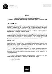 Resolución de la Dirección General del Agua sobre el Régimen de ...