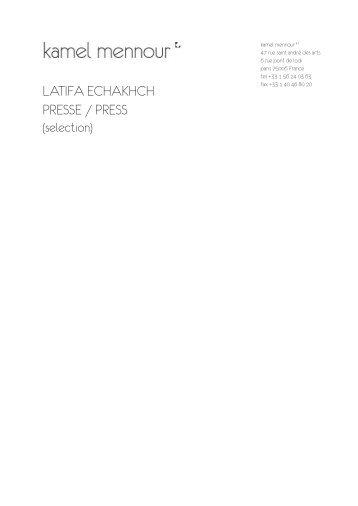download PDF - Galerie Kamel Mennour