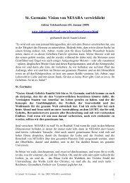 St. Germain: Vision von NESARA verwirklicht - Teleboom.de