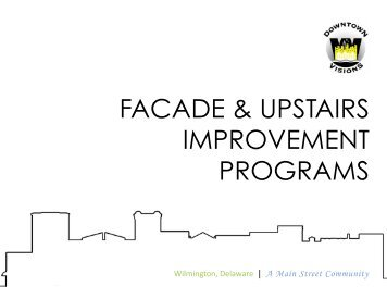 Facade Improvement Program Guidelines - Downtown Visions