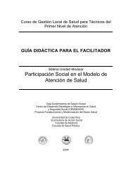 Sétima Unidad Modular: Guía didáctica para el ... - CENDEISSS